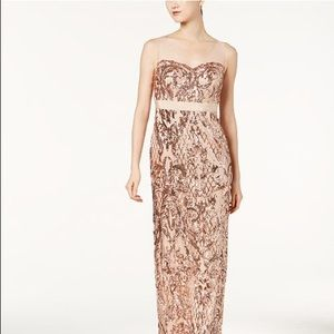 Adrianna Papell sequence mesh gown